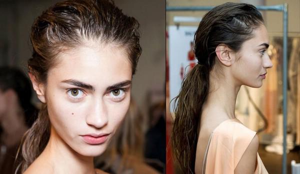 Как создать эффект мокрых волос