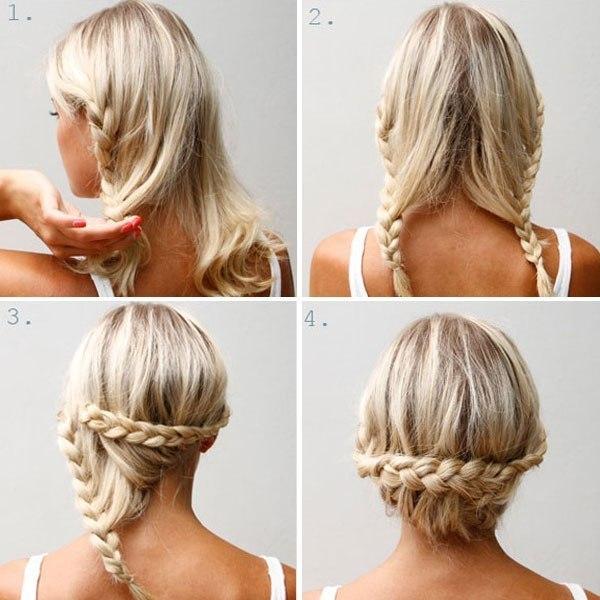 Коса вокруг волос