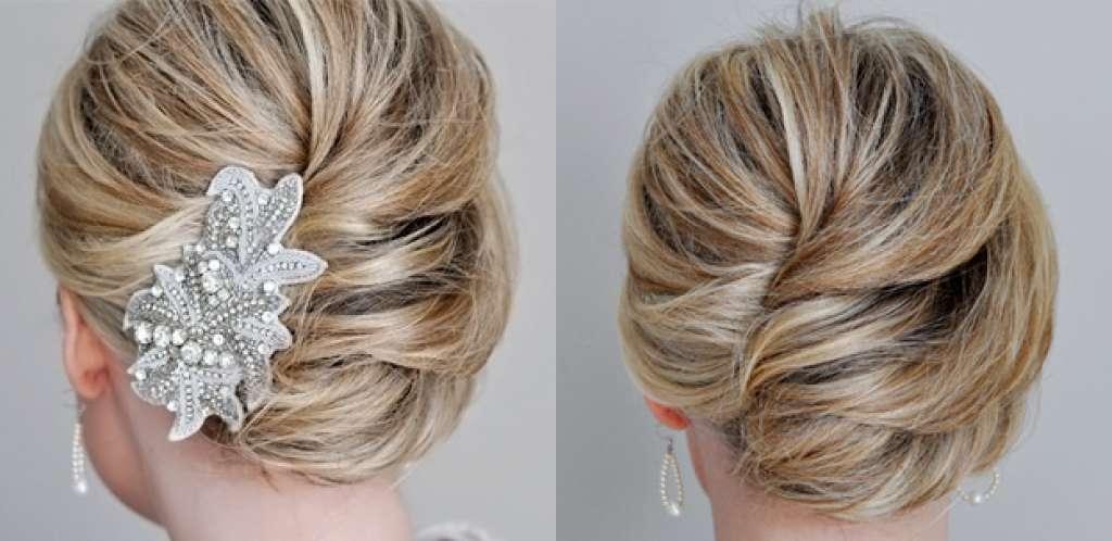 Прическа коса ракушка