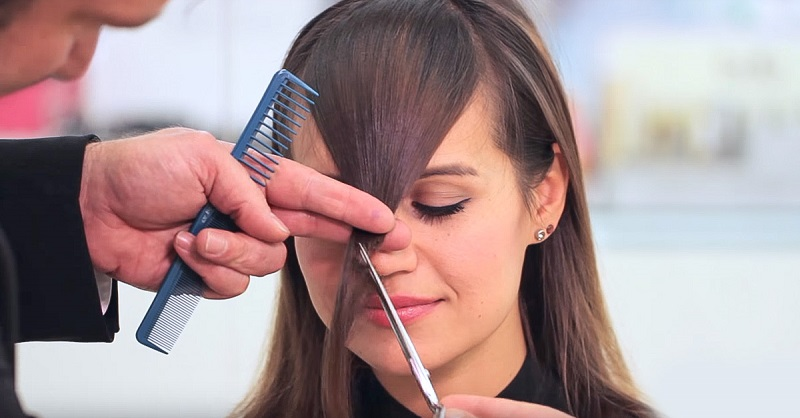 Как подстричь челку красиво и правильно