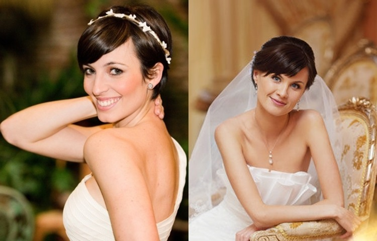 Свадебные прически на короткие волосы