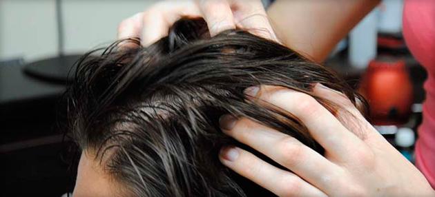 Маска пилинг для кожи головы с солью