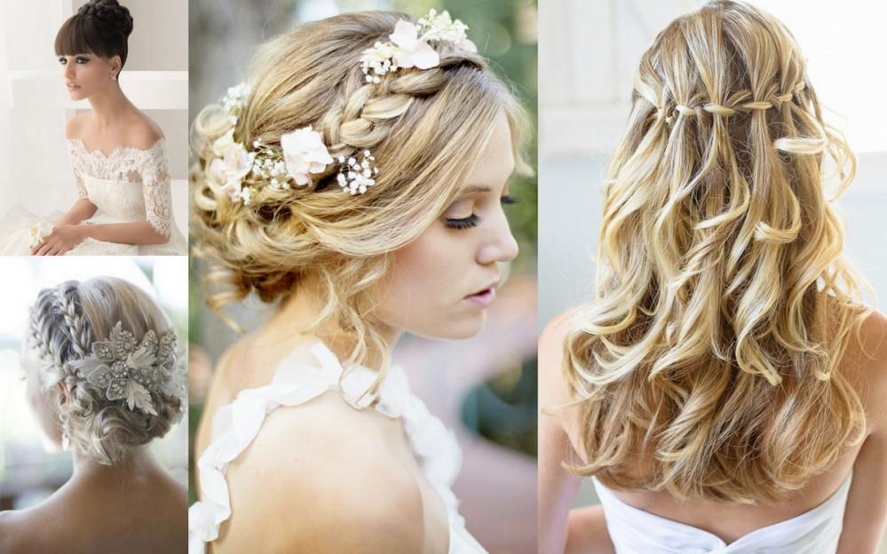Свадебные прически с косами фото